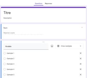 google forms formulaire