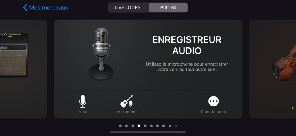 enregistreur audio garageband